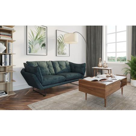 Alberta XL 348x323cm narożna sofa z pufą 100x123cm