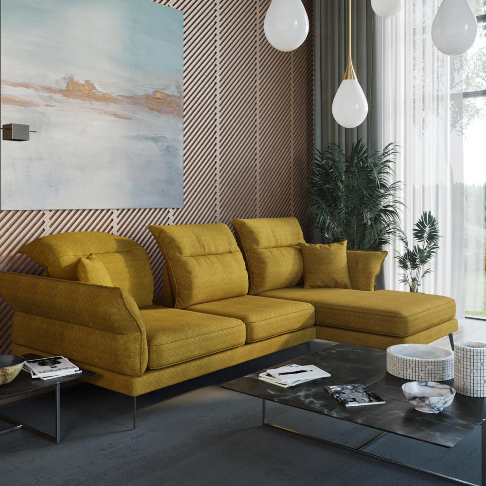 Kore rozkładana sofa 204 cm ze zdejmowanym obiciem