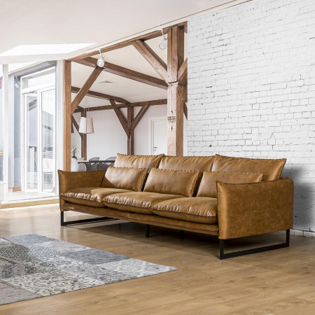 Nowoczesna Sofa Kos 280cm z ozdobnym szwem
