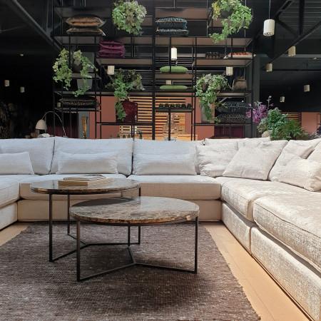 Claris stylowa sofa 284cm na metalowej ramie. Wyprzedaż z ekspozycji