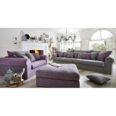 Gand stylowa sofa 320 cm z luźnym pokrowcem