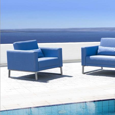 Cubik sofa narożna ogrodowa 330x330cm. Całoroczne meble do ogrodu.