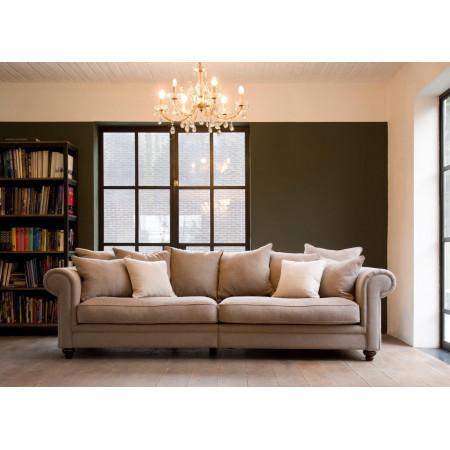 King Bridge stylowa sofa 4-osobowa z poduszkami