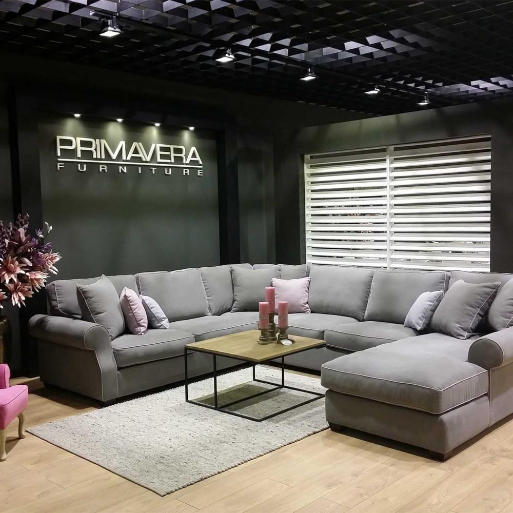 Montreal sofa narożna z szezlongiem i standardowymi poduszkami