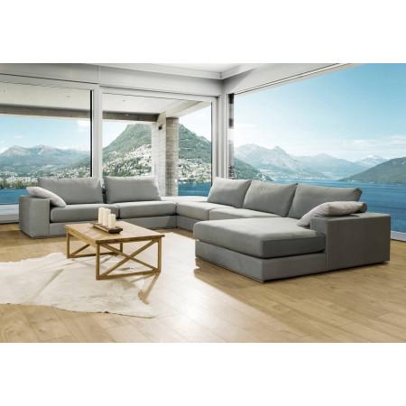 Alberta XL 348x 448x205cm, sofa narożna z pufą