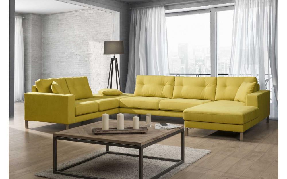 Ferrara nowoczesna sofa narożna z szezlongiem 330x161cm