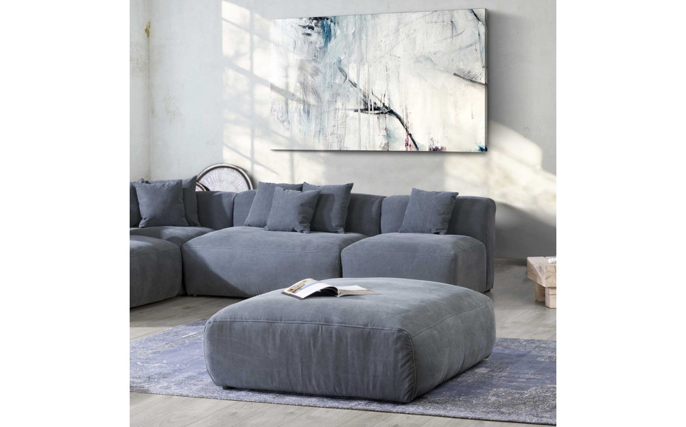 Przytulna sofa Bloom 265 cm x 320 cm z pufą