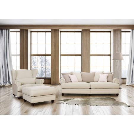 Memphis narożnik z pufą na taras i do ogrodu, sofa o wymiarze 352x352cm z pufą 115x113cm