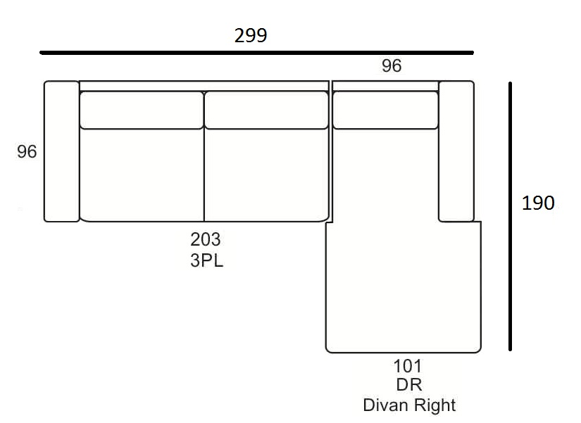 Fabien 3PL-DR Primavera Furniture