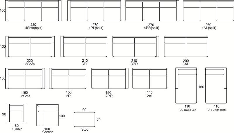 Wymiary Kos Primavera Furniture